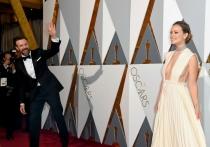 Momentazos Oscars 2016: el marido de Olivia Wilde, saludando
