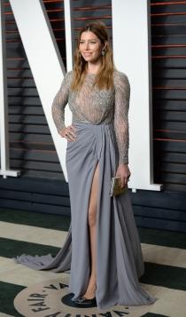 Vanity Fair Oscars 2016: Jessica Biel, elegante y sofisticada