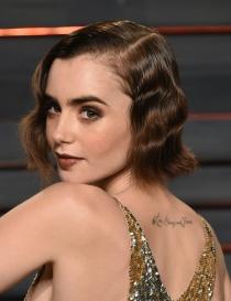 Peinados Oscars 2016: Lily Collins, ondas al agua