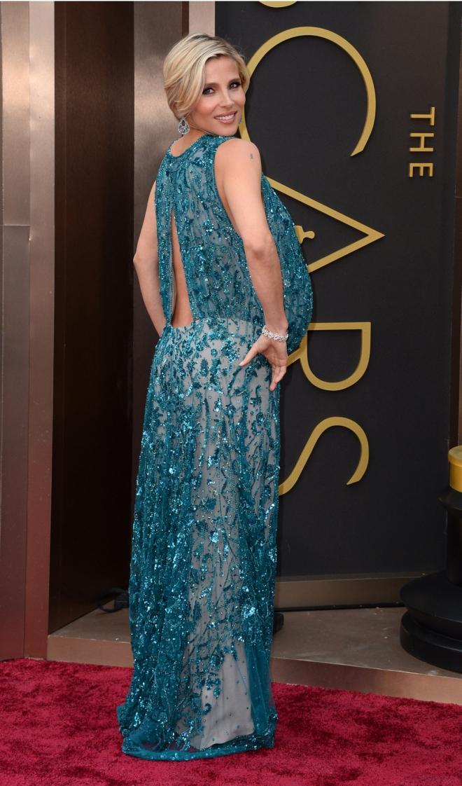 Elsa Pataky también posó sexy en los Oscars
