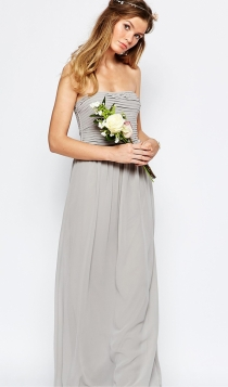 Vestidos de novia diferentes: el gris de Asos para novias bohemias