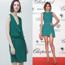 Vestidos para graduación: el verde esmeralda de Nieves Álvarez