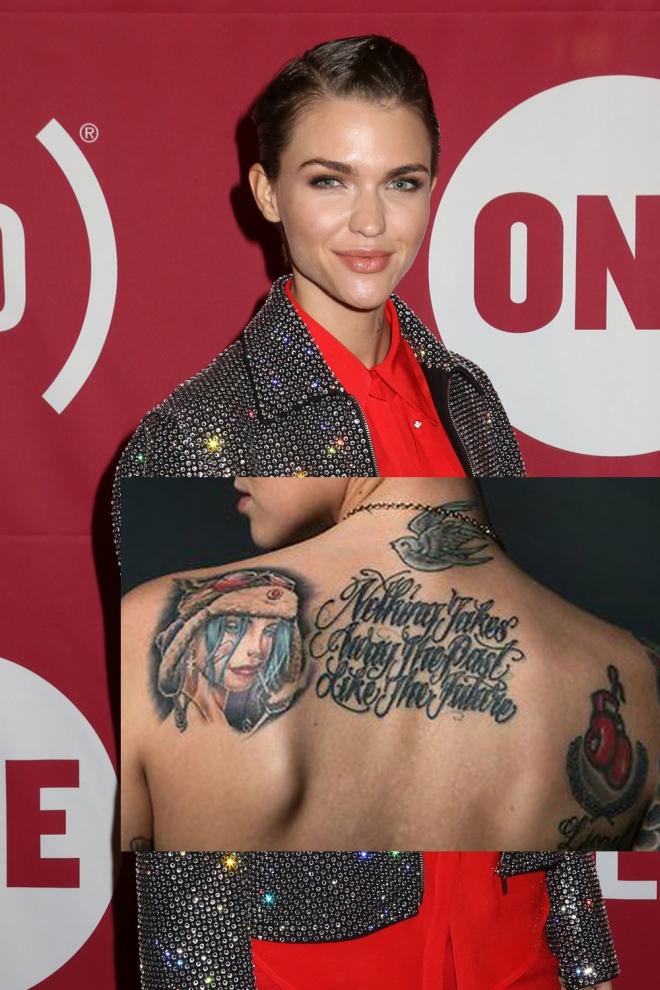 Tatuajes En La Espalda Los Diseños De Ruby Rose