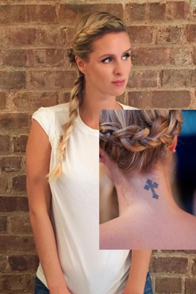 Tatuajes En El Cuello La Cruz De Nicky Hilton