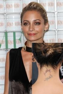 Tatuajes en el cuello: el apellido de Nicole Richie
