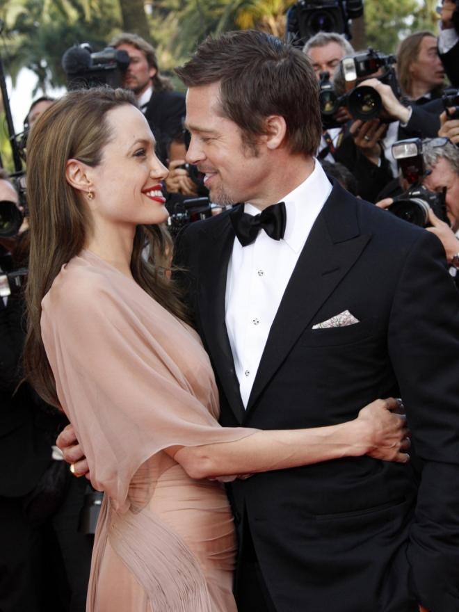 Parejas que se conocieron en rodajes: Brad Pitt y Angelina Jolie