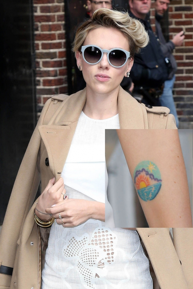 Tatuajes En El Brazo El Amanecer De Scarlett Johansson