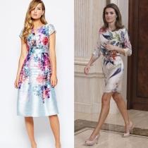 Vestidos de comunión para madres: las flores de la Reina Letizia, de ASOS