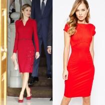 Vestidos de comunión para madres: el estilo rojo de la reina Letizia