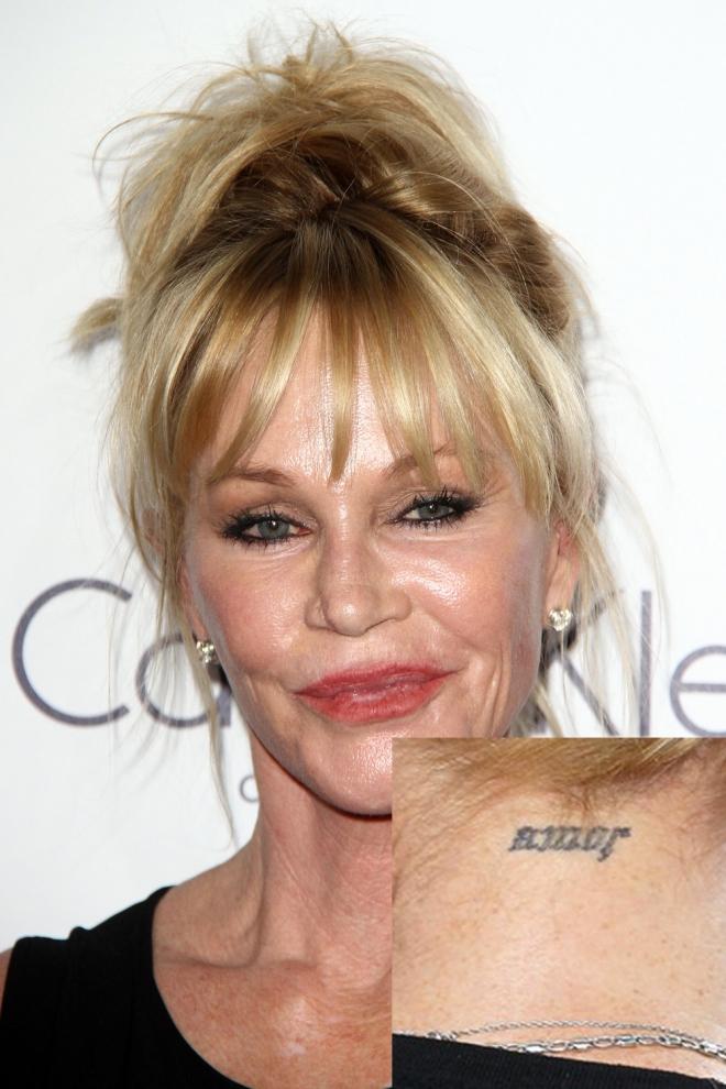 Tatuajes En El Cuello El Amor De Melanie Griffith