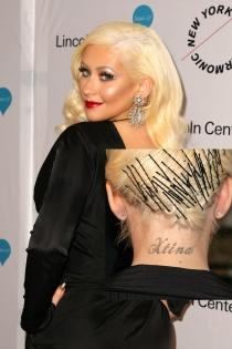 Tatuajes en el cuello: Xtina de Christina Aguilera