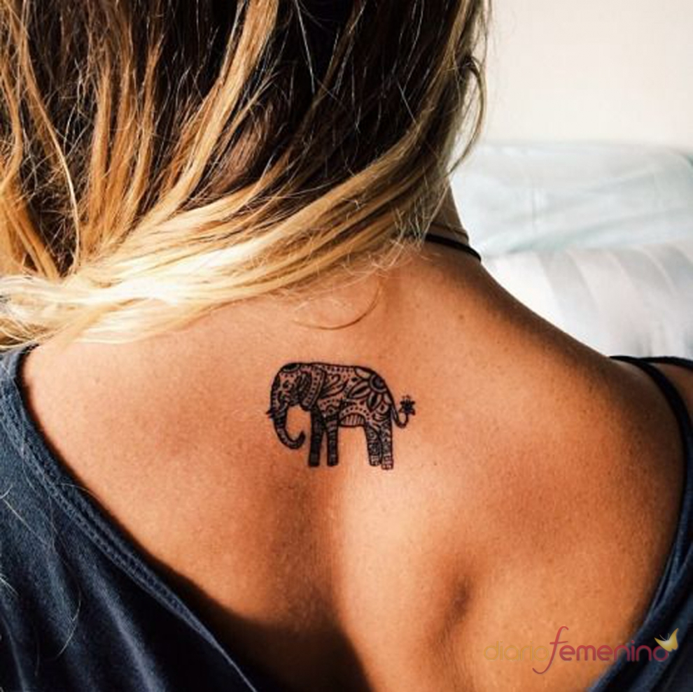 Significado de los tatuajes de elefantes: buena fortuna