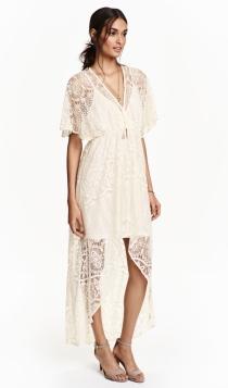 Vestidos de novia low cost: una novia bohemia, con H&M