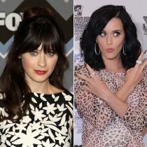 Famosos que se parecen: Katy Perry y Zooey Deschanel
