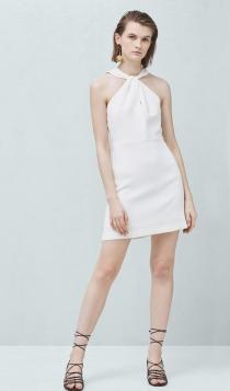 Vestidos cortos de fiesta: el alma blanca de MANGO