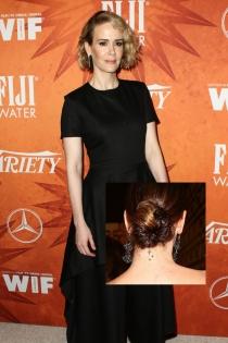 Tatuajes en el cuello: Las estrellas de Sarah Paulson