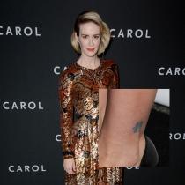 Tatuajes en el tobillo: la letra china de Sarah Paulson