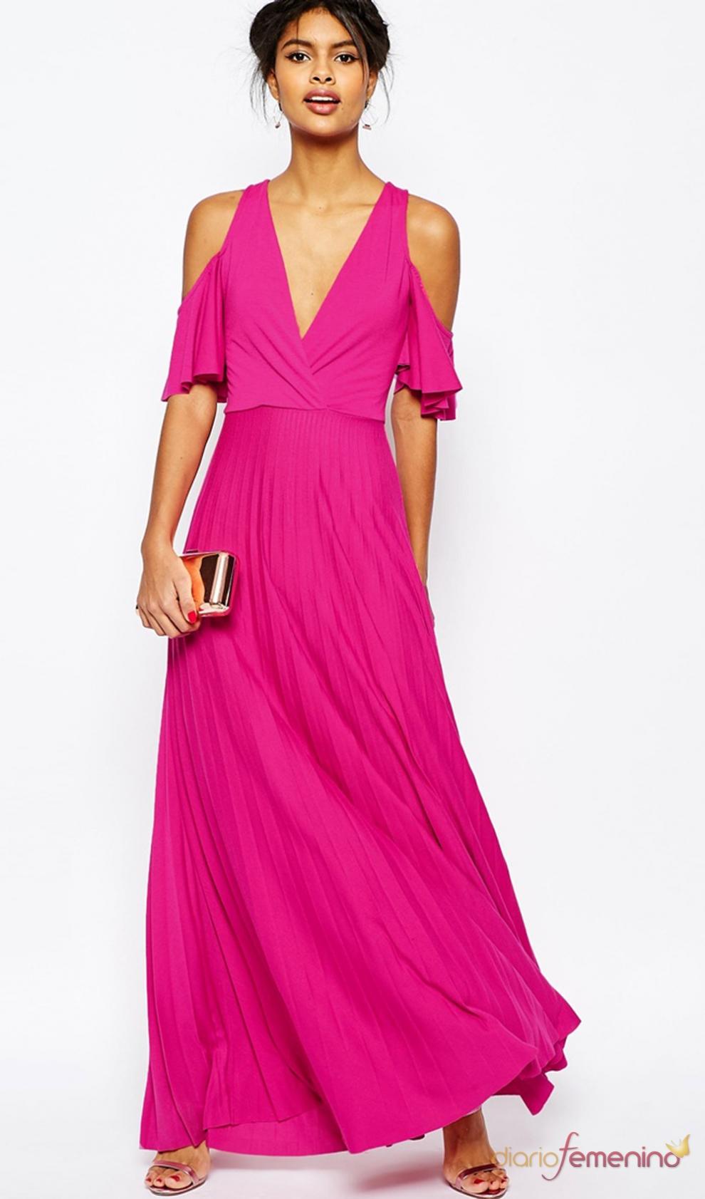 Vestidos de invitada low cost: ASOS, un traje rosa por 44,99 euros