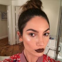 Lily Aldridge, una modelo con los labios en marrón