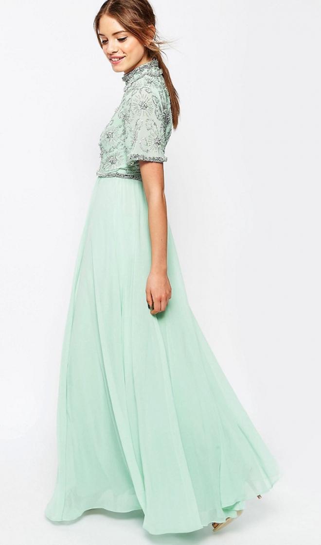 Un vestido aguamarina para sensuales damas de honor