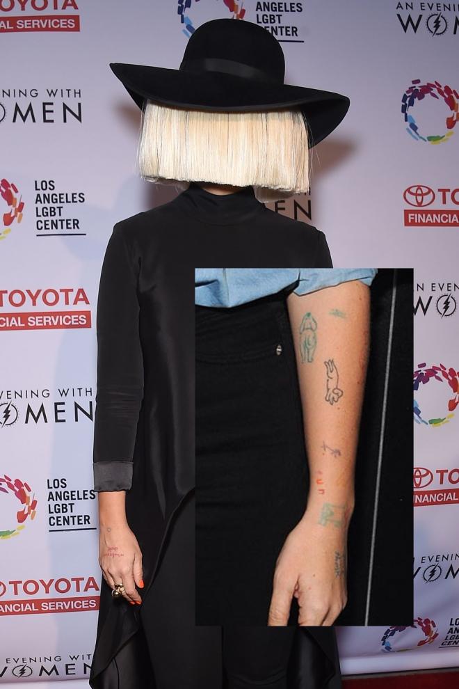 Tatuajes en el brazo: los dibujos de Sia