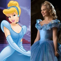 Personajes Disney: Lily James es Cenicienta