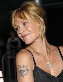 Melanie Griffith se hizo un tatuaje en honor a Antonio Banderas