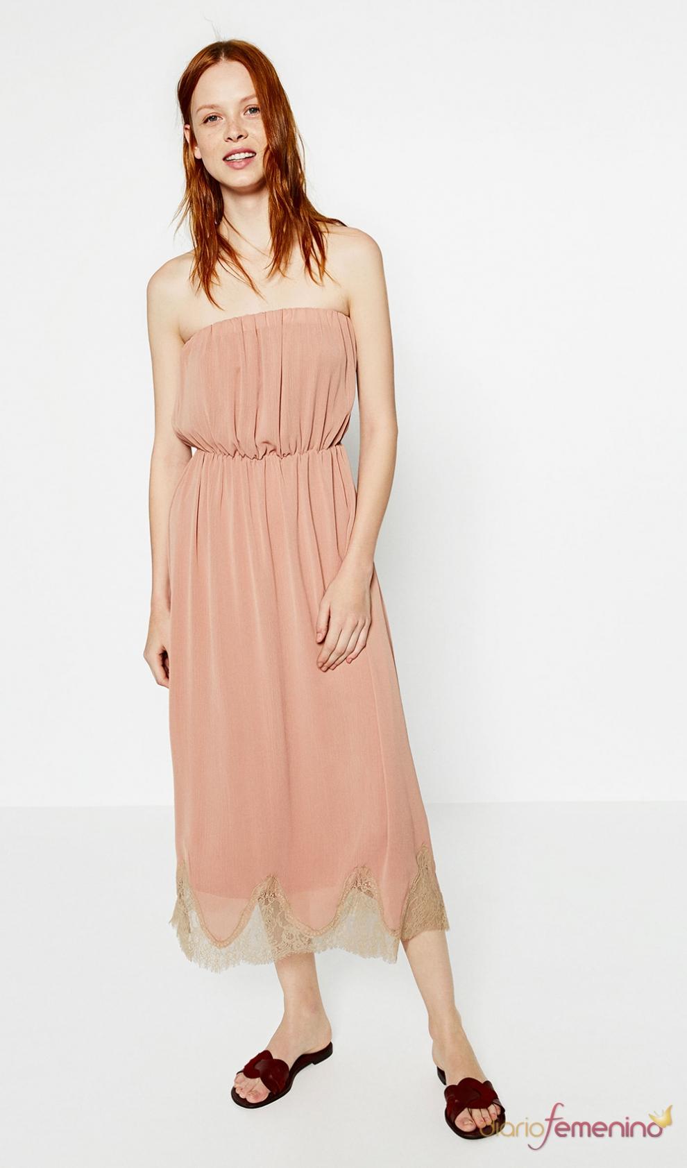 de boda embarazadas: un vestido bohemio de ZARA