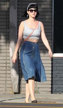 Katy Perry y sus faldas vaqueras, un must have único