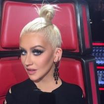 El moño más gracioso de Christina Aguilera en La Voz
