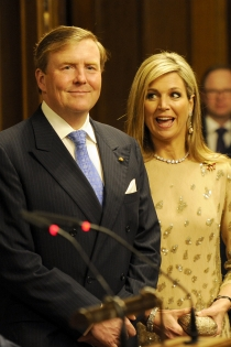 La cara más divertida de Máxima de Holanda con su marido Guillermo