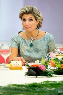 La cara de estupefacción de la reina Máxima de Holanda