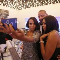 Selfies de famosos: Kerry Washington con los protas de Empire