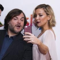 Selfies de famosos: Kate Hudson y Jack Black