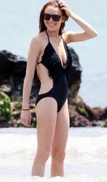 Lindsay Lohan, moda de baño