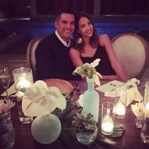 Una cena romántica para Jessica Alba y Cash Warren