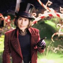 Personajes Johnny Depp: Willy Wonka en Charlie y la fábrica de chocolate