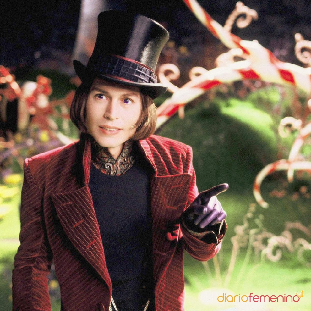 Personajes Johnny Depp: Willy Wonka en Charlie y la ... Johnny Depp Looks
