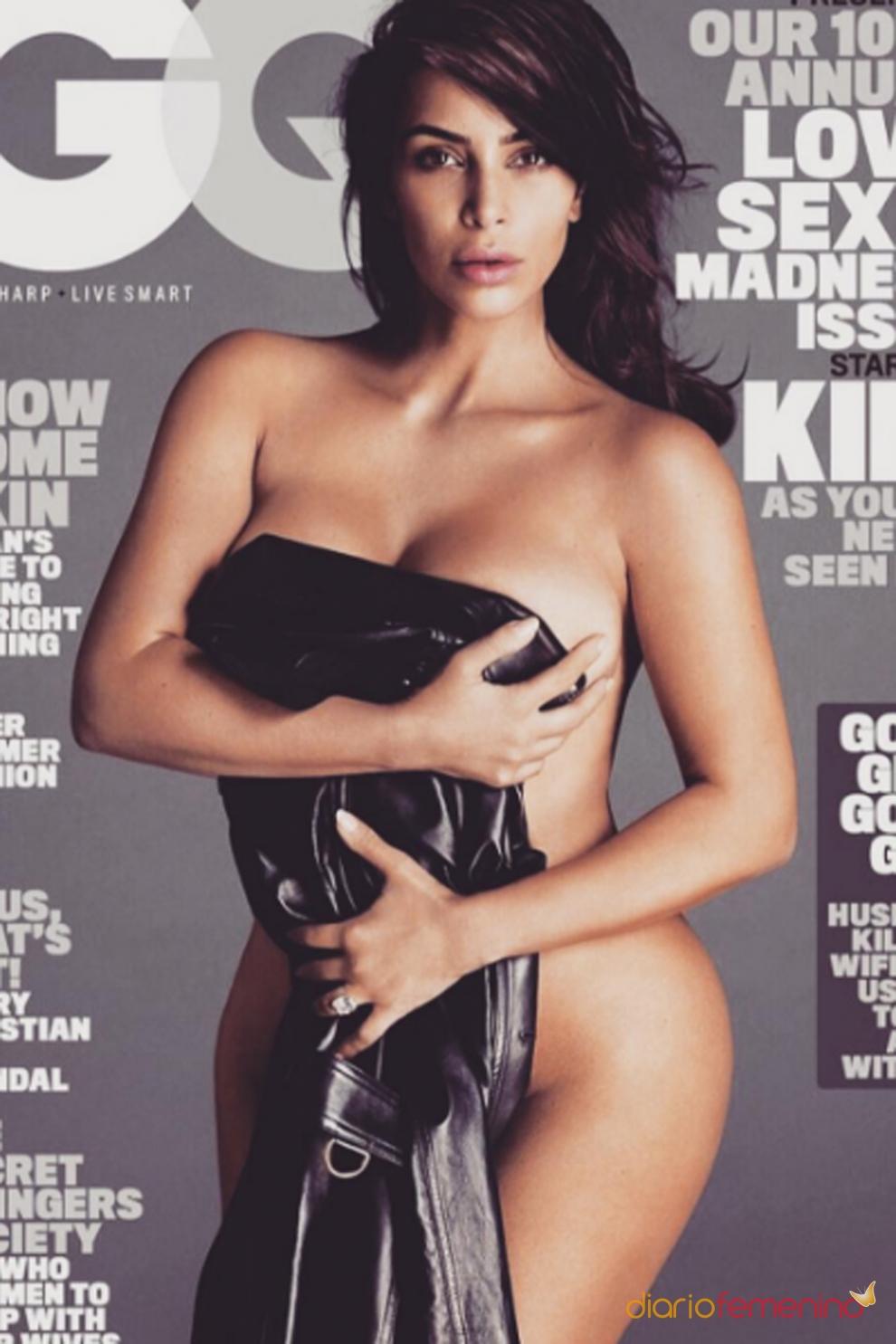 Kim Kardashian se desnuda en la portada de GQ