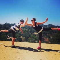 Famosos con sus padres: Lea Michele, a tope con el ejercicio