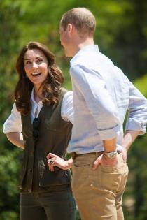 Kate Middleton y Guillermo,  todo sonrisas