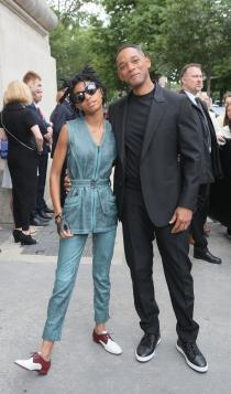 Famosos con la alta costura de París: Willow y Will Smith