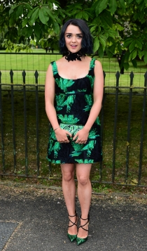 Fiesta de Serpentine Gallery: Maisie Williams, llamativa y diferente