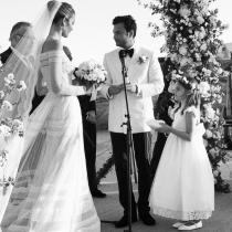 Ana Beatriz Barros en su boda con la hija de Alessandra Ambrosio