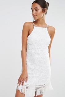 Un vestido blanco de ASOS, ideal para Ibiza