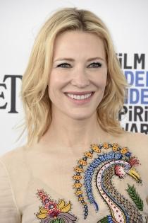 Maquillaje de ojos azules de famosas: Cate Blanchett