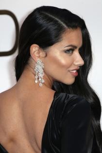 Maquillaje de ojos azules de famosas: Adriana Lima