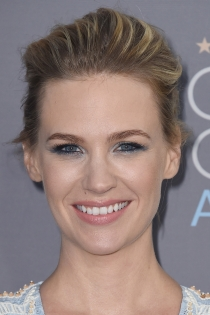 Maquillaje de ojos azules de famosas: January Jones