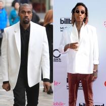 Peleas de famosos en Twitter: Kanye West y Wiz Khalifa
