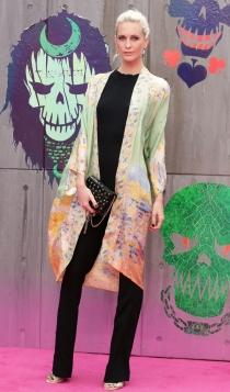 Suicide Squad: Poppy Delevingne apoya a Cara en el estreno londinense